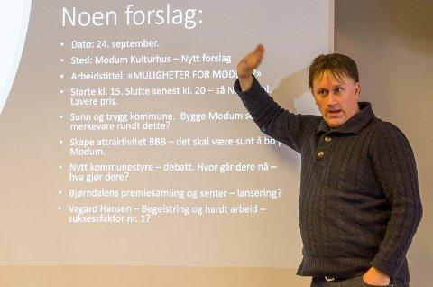 AVLING: Martin Kaggestad i Modum næringsråd ønsker flere bedrifter til Gründergartneriet, for å få til en en skikkelig «avling».