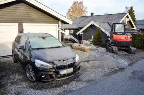 INNBRUDD: En av bileierne som har hatt innbrudd i bilen er Hans Levor Aasmundrud i Vikersund. Også her var rattet borte.