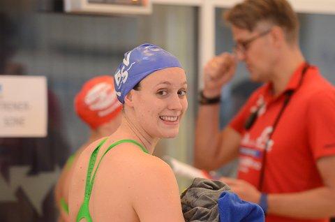 Stine Lise Stenseth var ikke fornøyd med sin 200 fri på NM der hun ble nummer fire. Stine Lise svømte mye bedre for Bærum på den korte fristafetten der det ble gull.