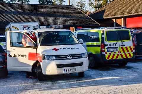 LETEAKSJON: Leteaksjonen etter den savnde jenta, koordineres fra brannstasjonen på Nedmarken.