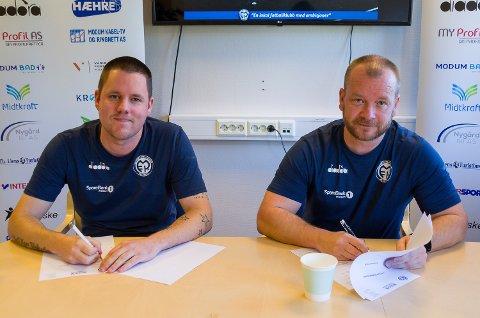 NY DUO: Stein Ellingsen blir daglig leder i 100 prosent stilling, mens Trond Wold tar over som trener for A-laget til Modum FK.