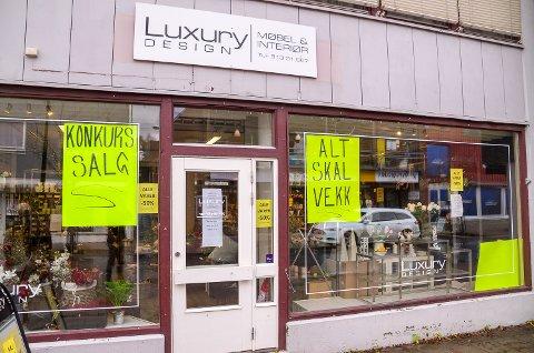 KONKURSSALG: Alt skal vekk hos Luxury Design, etter at selskapet bak interiørbutikken har meldt oppbud.