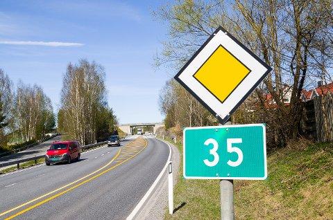 DØPES OM: Riksvei 35 blir i løpet av året til riksvei 350.