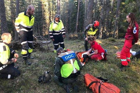 FIKK BEHANDLING: Da redningsmannskapene endelig fant Guri Skretteberg Magnussen, gikk alt veldig fort, sier hun selv.