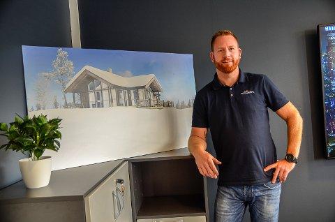 KNALLSTART: Etter oppstarten i april, har Eystein Ranheim daglig leder i Saltdalshytta Buskerud solgt 27 hytter. Han har også nærmere 150 hyttetomter på gang i Hallingdal.