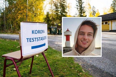 BACHELOR: Mathis Normann Skinstad (innfelt) har skrevet bacheloroppgave om tilliten til Modum kommunes informasjon om koronapandemien.