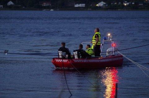 Brannvesenets dykkere deltok i søket.