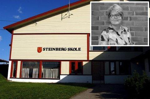 MANGLER HELSESYKEPLEIER: Steinberg skole i Nedre Eiker mangler helsesykepleier: – Plan for høsten er at lovpålagte oppgaver vil bli løst av andre helsesykepleiere på andre skoler, sier Inger Øverland, virksomhetsleder for forebyggende enhet i Nedre Eiker.