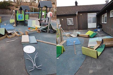 TIRST SYN: Mandag morgen sto lekeplassen til Espira barnehage på Loesmoen i Hokksund på hodet.