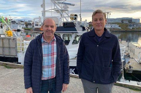 BYGGMAKKERE: Fiskekjøper Bjørn Ronald Olsen og arkitekt Reiulf Ramstad.