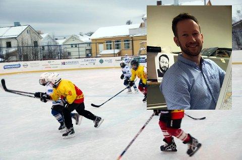 Johnny Sollie har vært med på initiativet om å starte Honningsvåg ishockey klubb. Nå håper han at både kvinner og menn blir med!