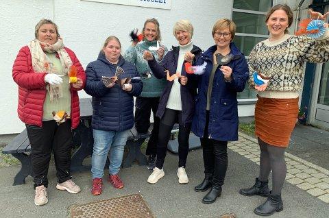 Bente Floer, Hege Johansen, Erica Kimberly, Heidi Holmgren, Trude Flæte og Kristine Salvesen Nordland.