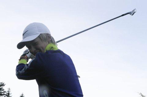 Målbevisst: Jacob Stavang Stubhaug er klar på at golf skal verte jobben hans.