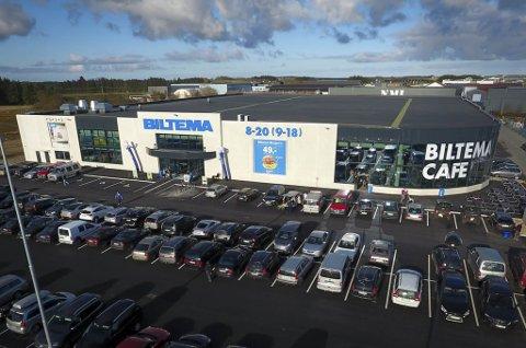 Biltema sitt store konseptvarehus på Bryne.