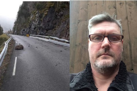 NESLEIAR I FAU: Rene Christensen er nestleiar i FAU ved Davik skule. Han meiner skuleruta må leggast om så lenge det er rasfare på Fv 616.