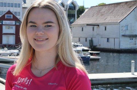 TILSETT OG KLAR: Lene Kristin Standal Andersen skal jobbe på Spenst i Florø i friåret sitt.