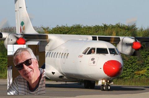 IKKJE NØGD; Jan Standal er ikkje nøgd med kundeservicen frå DAT etter at flyet heim til Florø blei kansellert onsdag kveld.