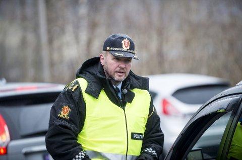 UP: Terje Oksnes, leiar av  Utrykningspolitiet på Vestlandet