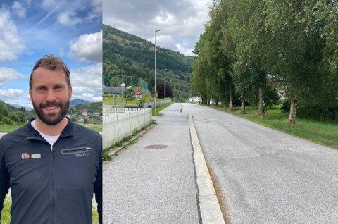 – Berrvellene ved Naustdal Skule er for smal til at bilar kan stanse og samstundes la trafikken flyte forbi, fortel Steinar Kleppe.