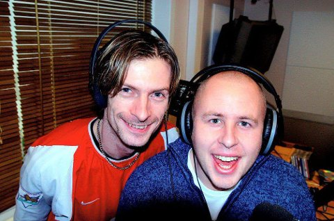 Ole Henrik Tveten (t.v) og Alexander Hermansen jobbet sammen i Radio Fredrikstad frem til 2004.