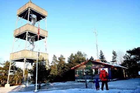 Planer: Den planlagte lysløypa er tenkt lagt fra idrettsanlegget i Trondalen til Røde Kors-hytta på Sprinklet.