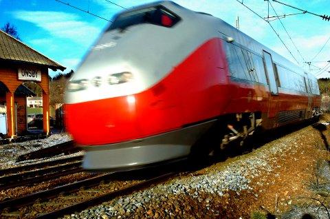 På rett sporTogene på Østfoldbanen hadde i fjor en punktlighet høyere en Bane Nors mål.