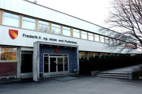 AVLYST: All undervisning ved Frederik II videregående skole, avdeling Frydenberg, er avlyst mandag.