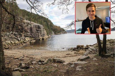Bjørn Øyvind Strand Solberg (18) som omkom av skadene han pådro seg i den tragiske fallulykken i Halden lørdag kveld. (Foto: HA/Privat)