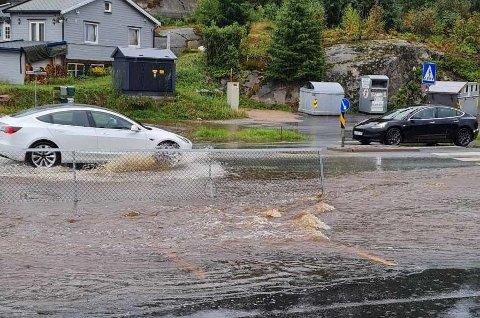 Slik så det ut på Vesterøy torsdag ettermiddag. (Privat bilde)