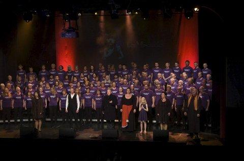 Publikum takket for konserten med stående applaus: Det ble suksess for Musicalse in concert i Narvik.Alle foto: Jan Erik Teigen
