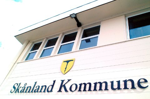 Kommunesenteret på Evenskjer i Skånland.