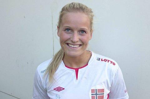 Seier: Marit Røsberg Jacobsen noterte seg for to scoringer i 33–27 seieren mot Kroatia søndag ettermiddag.