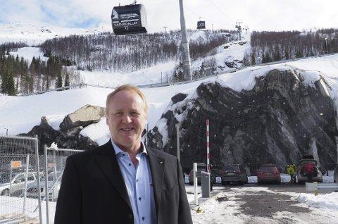 Vil si nei, igjen: Jan-Olav Opdal var med og utgjorde flertallet i styret i Narvik Vann som sa nei til medfinansiering av VA-kostnader tilknyttet utvikling av næringsarealer i Fagernesfjellet. Det er et standpunkt han og Frp vil stå ved også i den kommende bystyrebehandlingen. Foto: Terje Næsje