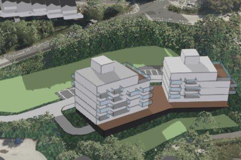 TO BLOKKER: Ifølge planene blir det ført opp to blokker hvor den ene får en etasje mer enn den andre.