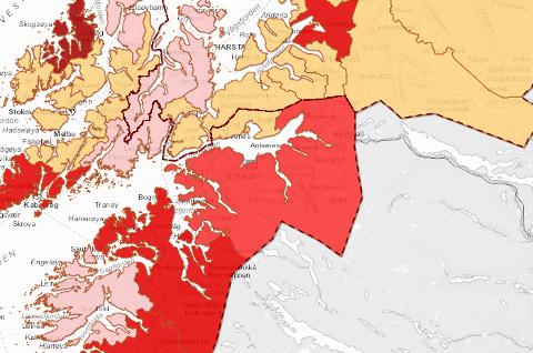 Med 38 smittede de siste 14 dagene er Narvik merket rødt på FHIs smittekart.