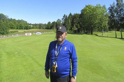 STORE OPPGAVER: Styreleder Lars Markuson og hans medarbeidere står foran store oppgaver når Borre Golfklubb skal arrangere pro-turneringen Borre Open kommende helg.  FOTO: JAN-ROLF LUDVIGSEN