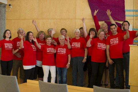 Klare: Fylkes rodeledere, representanter fra Røde Kors, kommunen og fylkesaksjonsleder gleder seg til årets aksjon.
