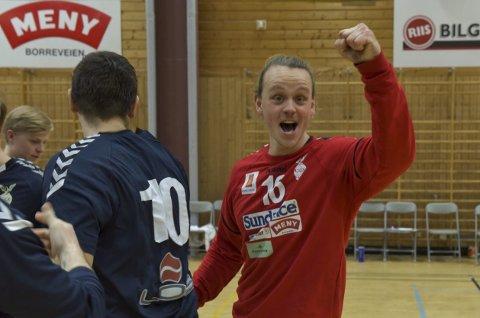TOPP: Simen Westby Johansen har en stor del av æren for at Falk sikret seg to uhyre viktige poeng søndag.