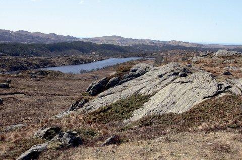 Bildet viser utsikten like sør for Måkaknuten. Langavatn vises i bakgrunnen.