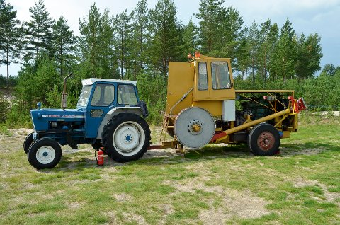 ENESTE I NORGE: Denne maskinen er den eneste av sitt slag i Norge.