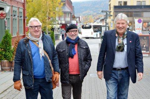 SØNDAGSGUTTENE: Svein Arild Hermanrud, Rune Stranda og Ole Gunnar Nagelset vender tilbake til parkkafeen 23. september.