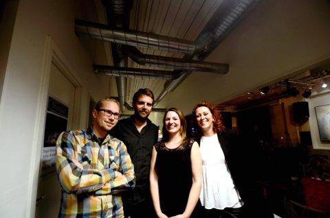 Bandet: F.h.: Olav Christer Rossebø, Jo Fougner Skaansar, Mari Skeie Ljones og Camilla Granlien.