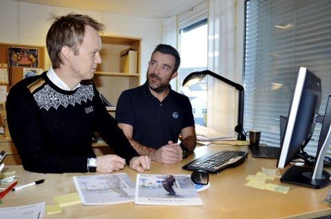 Alvorlige trusler: IT-sjef Raymond Pettersen (th) og næringssjef Eirik Haagensen i Lillehammer kommune peker på at det er sterke miljøer i Lillehammer-Gjøvik som kan ta en rolle for bedre datasikkerhet i norske kommuner. Foto: Karen Bleken