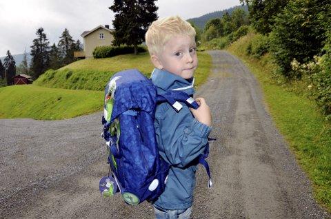 Skolegutt på Engjom: – Hjernen min er ganske stor, så jeg kommer til å huske mange ting, mener Magnus Leine Bjørkhaug.