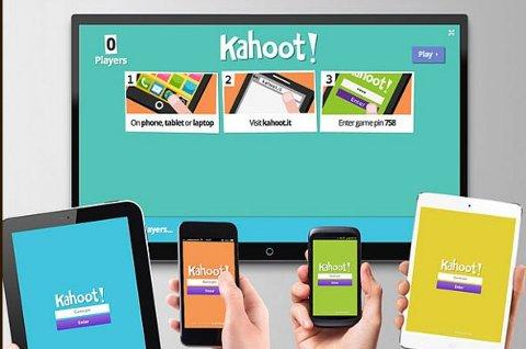 En hovedskjerm fungerer som quiz-master - og alle deltagerne deltar med sin mobil eller sitt nettbrett. Moro og enkelt.