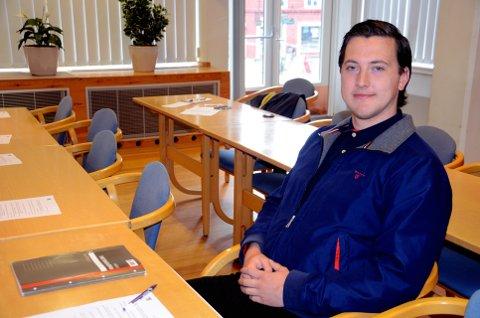 Oppfordring: HiL-student Vegard Vikøren er opptatt av at studentene skal bli mer integrert i regionen. Foto: Karen Bleken