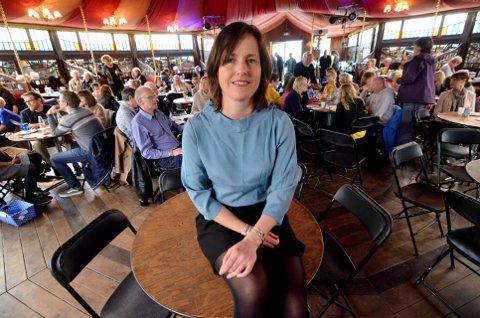 AVVENTER: Marit Borkenhagen, sjef for Norsk litteraturfestival.