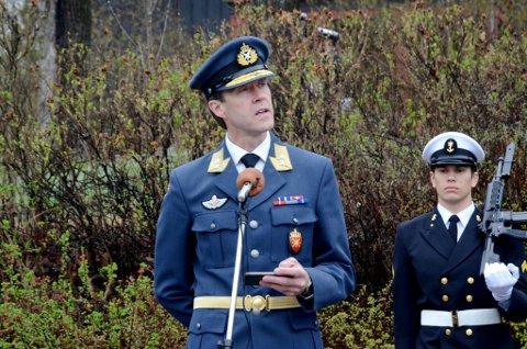 Minnestund ved de falnes monument på Utsiktsbakken i Lillehammer 17. mai morgen 2017  Tale ved generalmajor Inge Kampenes, sjef for Cyberforsvaret