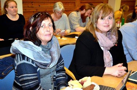 Astrid Gaassand (til venstre) tar gjerne en fjerde periode som kommunepolitiker for FrP, mens makkeren Wenche K. Haug Almestrand satser på fylkespolitikken.