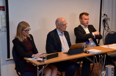 BRED ENIGHET: Jane Meyer (leder i Hamar Høyre), Bjørn Iddberg (ordfører i Gjøvik) og Espen Granberg Johnsen (ordfører i Lillehammer) har ikke tenkt å lene seg tilbake og så si seg fornøyd med satsingen på elbil, så langt. Foto: Per Ivar Henriksbø